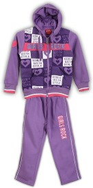 Lilliput Printed Girl's Track Suit