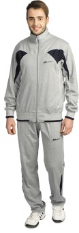 Athlet Jogging Grey And Navy Color Solid Men's Track Suit