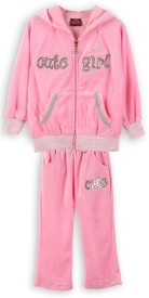 Lilliput Embroidered Baby Girl's Track Suit