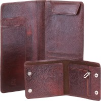 Walletsnbags Leather Travel Wallet Passport Holder Brown