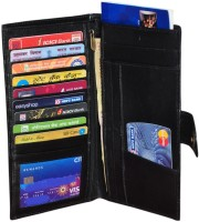 Gleam 100% Genuine Leather Travel Passport Case / Debit & Credit Card /Cheque Book Holder /Money Wallet Purse Black