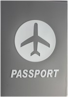 Tootpado Airplane Grey - Portable Folding Silicone Passport Cover Card Holder