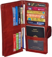 Gleam 100% Genuine Leather Travel Passport Case / Debit & Credit Card /Cheque Book Holder