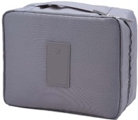 ROYALDEALSHOP Waterproof Multi Pouch Travel Toiletry Cosmetic Makeup Case Storage Bag With Handle (Grey)