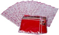 Kuber Industries Printed Non Wooven Saree Cover Set Of 12 Pcs (Pink) Pink