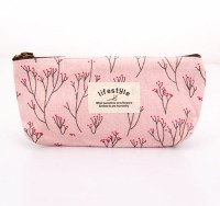 Futaba Printed Cosmetic Bag Pink