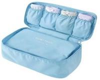 Shopper52 Undergarments And Innerwear Storage Bag Travel Organiser Polyester Pouch Sky Blue - MOTUDPSB Sky Blue