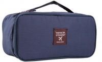 Inventure Retail Undergarments And Innerwear Storage Bag Travel Organiser Polyester Pouch Navy Blue
