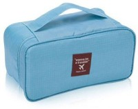 INVENTURE RETAIL Undergarments And Innerwear Storage Bag Travel Organiser Polyester Pouch Sky Blue