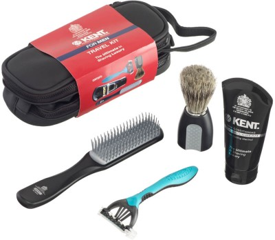 Kent Kent Big Wet Set Travel Shaving Kit & Bag (Multicolor)
