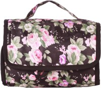 Yark Foldable Multipurpose Floral Print Travel Toiletry Kit Pink