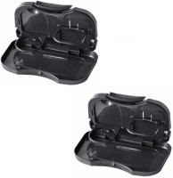 Autosun Foldable Car Dining Meal Drink Tray Set Of 2 Maruti Suzuki-800 (Maruti Car) Black