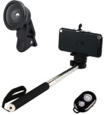 Smiledrive Selfie Stick With Universal Wide Lens & Wireless Clicker