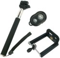 YourDeal Extendable Selfie Stick With Bluetooth Remote & Mobile Clamp Monopod (Black, Supports Up To 500 G)