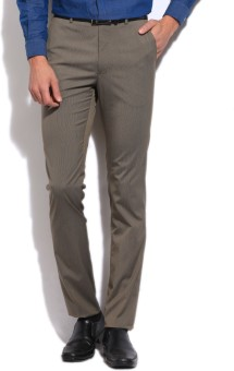 Arrow Slim Fit Men's Beige Trousers