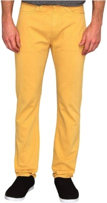 Zara Zara Slim Fit Men's Trousers (Yellow)