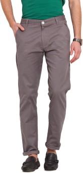 Ennoble Slim Fit Men's Grey Trousers