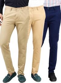Uber Urban Slim Fit Men's Multicolor Trousers