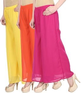Skyline Trading Regular Fit Women's Yellow, Orange, Pink Trousers
