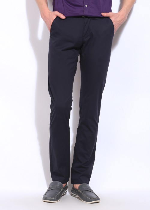 Wear Your Mind Slim Fit Men's Trousers - TRODTDVYUHAXHFHZ