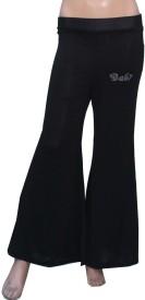 Romano Regular Fit Girl's Black Trousers