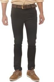 Fire On Slim Fit Men's Black Trousers