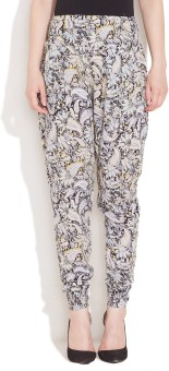 Hotberries Paisley Melange Rayon Regular Fit Women's Trousers
