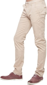 American Swan Slim Fit Men's Beige Trousers