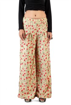 Admyrin Crepe Silk Printed Palazzo Regular Fit Women's Trousers