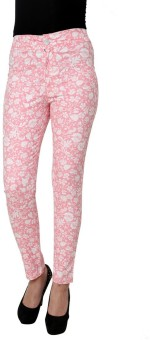 99Hunts Floral Print Slim Fit Women's Trousers