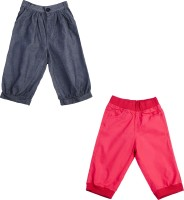 Addyvero Regular Fit Baby Girl's Dark Blue, Red Trousers