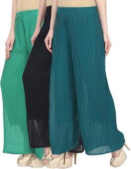 IKL Regular Fit Women's Green, Blue, Green Trousers