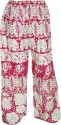 Indiatrendzs Regular Fit Women's White, Pink Trousers