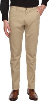 Arrow Sports Slim Fit Men's Beige Trousers