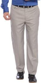 Park Avenue Regular Fit Men's Grey Trousers