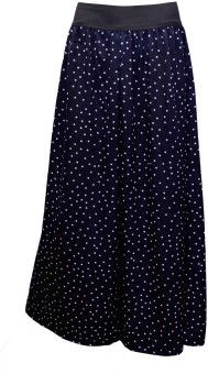 Shopingfever Navy Blue With Small White Dot Regular Fit Women's Trousers