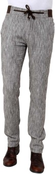 Wear Your Mind Slim Fit Men's Linen Trousers