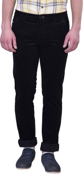 Blue Buddha Slim Fit Men's Black Trousers