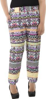 LastInch Aztec Multi Color Printed Lounge Regular Fit Women's Trousers