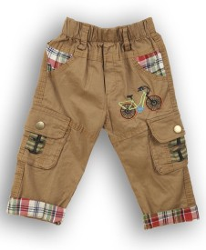 Lilliput Regular Fit Baby Boy's Brown Trousers