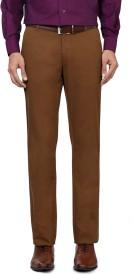 Allen Solly Regular Fit Men's Brown Trousers