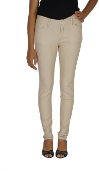 Smart Lady Slim Fit Women's Cream Trousers