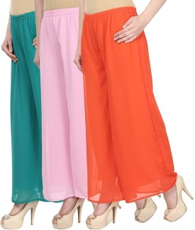 SYS Regular Fit Women's Green, Pink, Orange Trousers