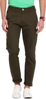 Ennoble Slim Fit Men's Green Trousers - TROEGZMWXPMEN993