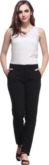 Nineteen Regular Fit Women's Black Trousers