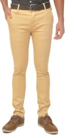 Fire On Slim Fit Men's Brown Trousers