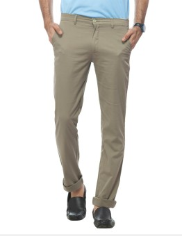 Live In Regular Fit, Slim Fit Men's Green Trousers