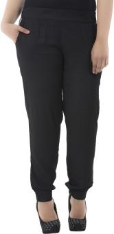 LastInch Black Lounge Regular Fit Women's Trousers