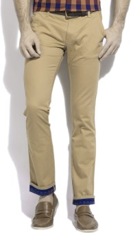 Wrangler Slim Fit Men's Beige Trousers - TROEFTP59K9BRNG7