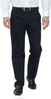 Canoe Navy Blue Slim Fit Men's Trousers